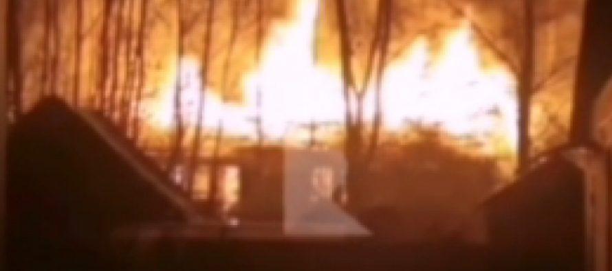 В ночь на воскресенье в Солотче горело неэксплуатируемое строение