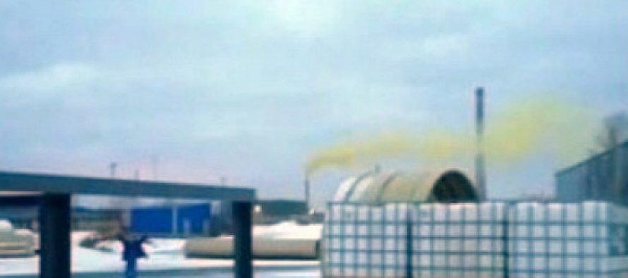 Рязанское предприятие «ЭкоСервис» объяснило желтый дым из трубы брошенной петардой