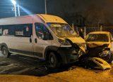 В Рязани маршрутка №66 столкнулась с легковым авто