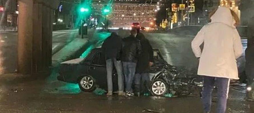 В ночном ДТП на Московском шоссе Рязани оба водителя получили серьезные травмы