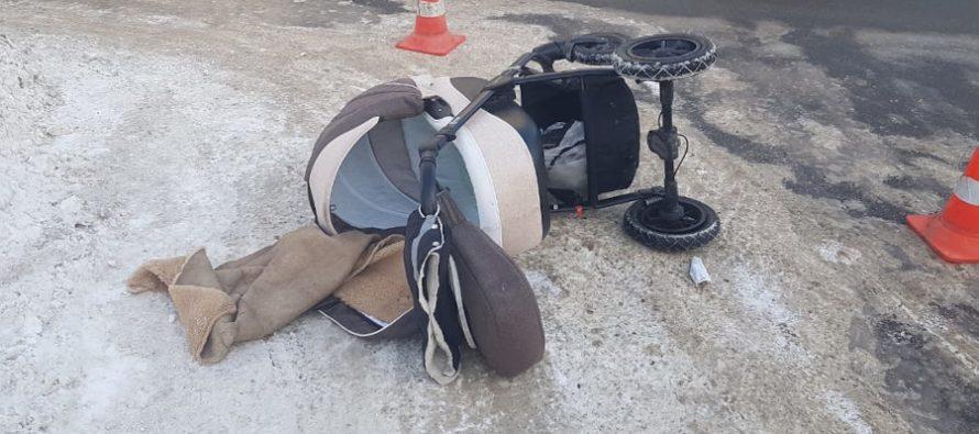 В Рязани коляска с 8-месячным малышом попала под Hyundai Solaris
