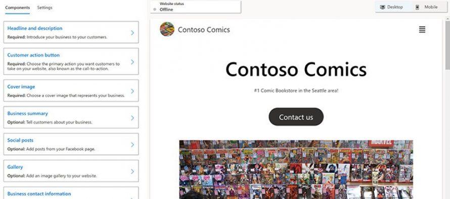 Microsoft открыла бесплатный сервис для быстрого создания веб-сайтов