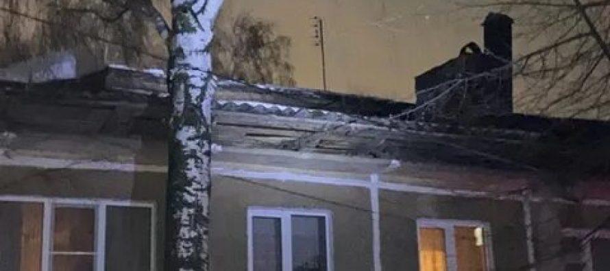 В одном из сел Рязанского района произошло обрушение кровли многоквартирного дома