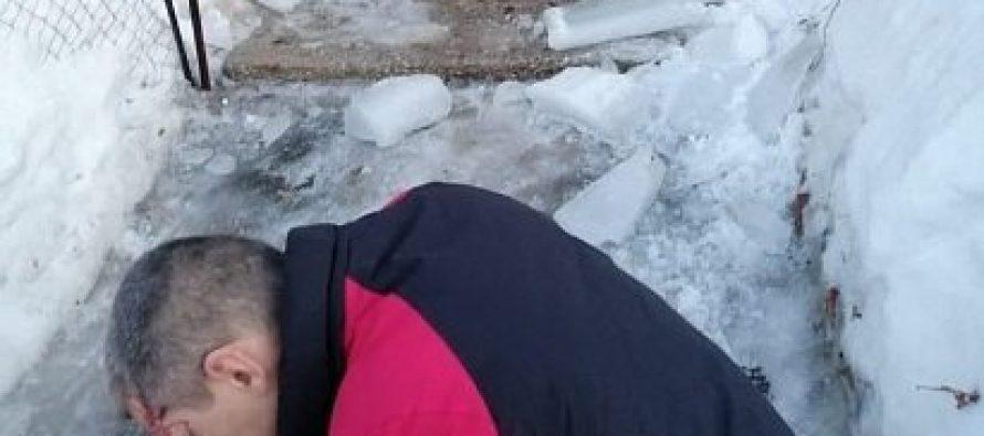 Очередная льдина-убийца обрушилась на голову рязанца