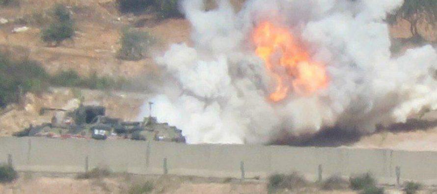 Подобравшийся к российской базе в Сирии броневик уничтожен противотанковой ракетой