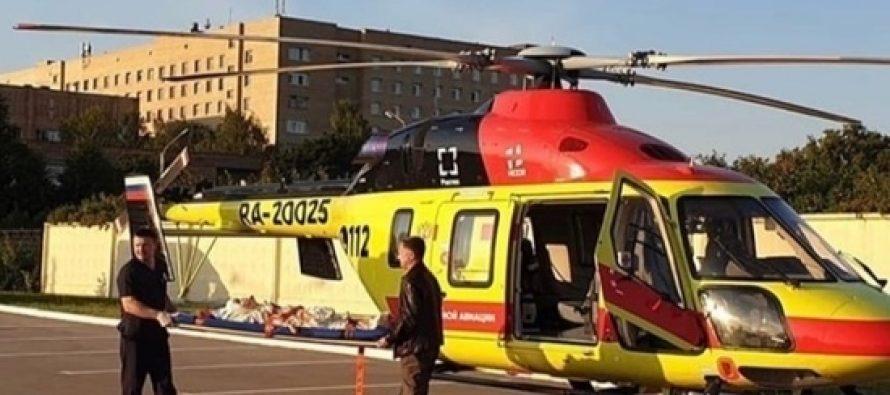 21-летнюю рязанку стравмой позвоночника доставили вМоскву на вертолете