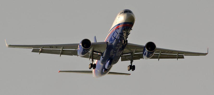 У границы с Украиной заметили российский самолет «открытого неба» Ту-214ОН