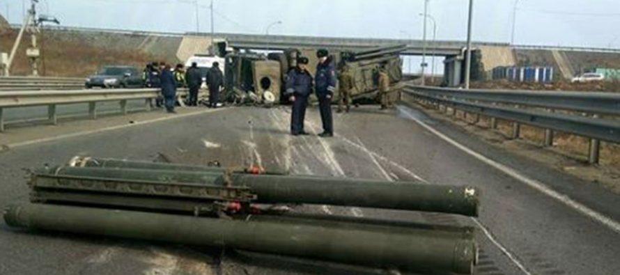 Под Белградом перевернулся грузовик с ракетами для российского «Панциря-С1»