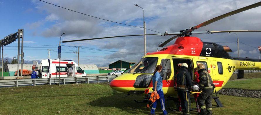 Всего за сутки вертолет санавиации доставил в больницы Рязанской области троих детей