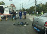 В самом центре Рязани «Лада Приора» сбила велосипедиста