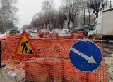 В рязанском Агропроме прорвало канализацию и затопило дорогу