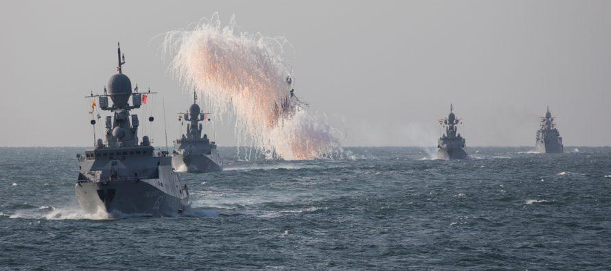 Украинские ВМС пытались перехватить боевые корабли Каспийской флотилии