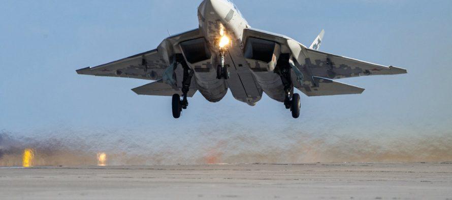 Истребитель Су-57 симпульсной пушкой станет ужасом для ВВС Америки