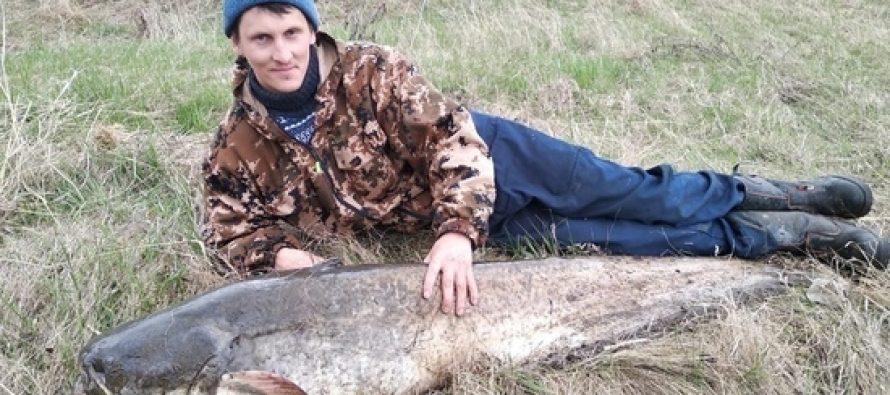 Рязанец поймал сома размером счеловека