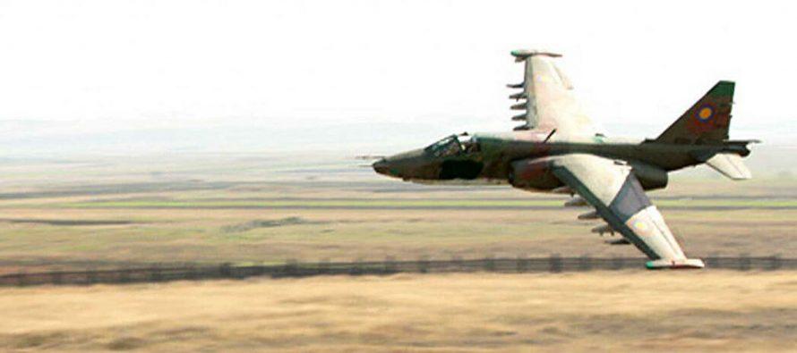 В Сети появилось видео «самой безумной» атаки армянского Су-25 на ВС Азербайджана