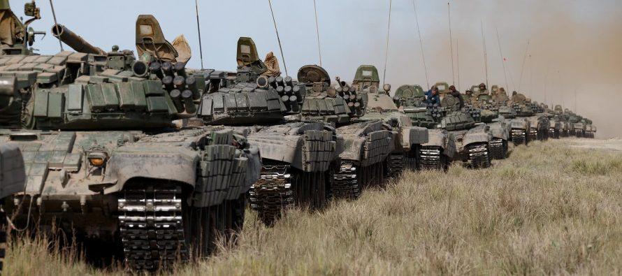 NYT: На границе с Украиной осталось более 80 тысяч российских военных