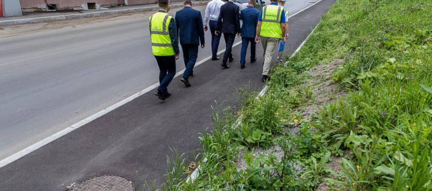 В Рязани состоялась комиссионная приемка двух дорог после ямочного ремонта