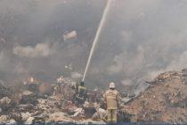 Пожарные Рязанской области тушат крупный пожар на свалке у Южной окружной