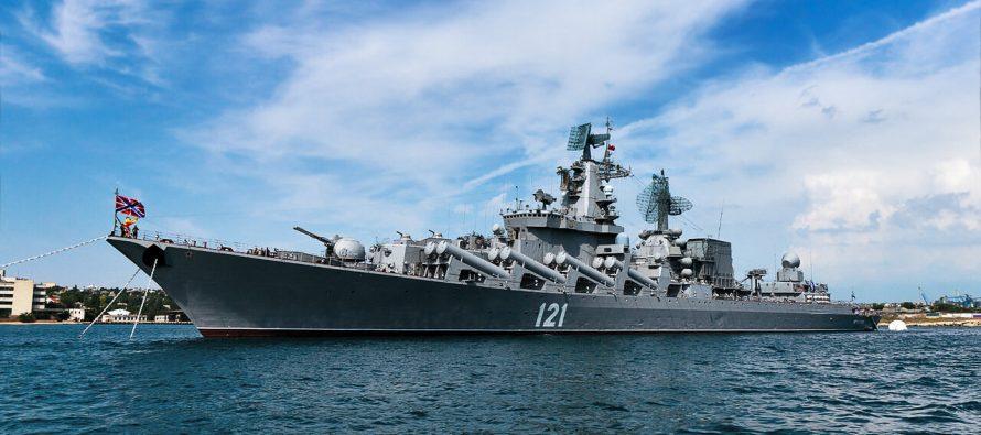 Крейсер «Москва» заставил американский корабль «Гамильтон» пуститься в бегство