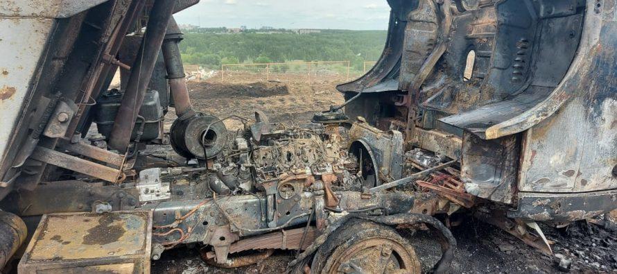 Сотрудники МЧС ликвидировали пожар на полигоне ТБО у Южной окружной дороги