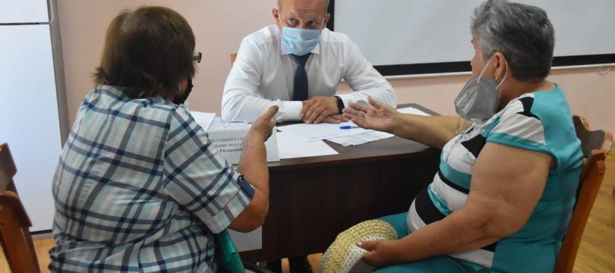 В Сасове министры правительства Рязанской области провели выездной прием