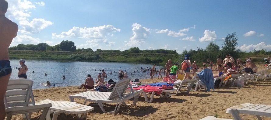 В Рязанском районе продолжается подготовка пляжей к купальному сезону