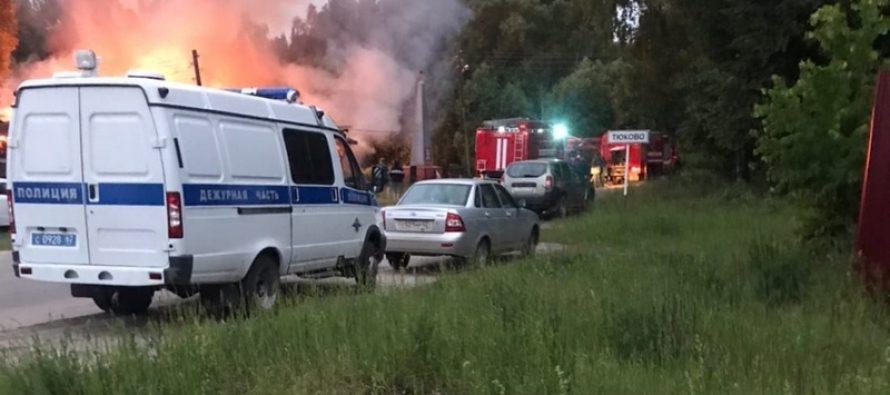 В ночь на воскресенье в Рязанской области сгорели библиотека и медпункт
