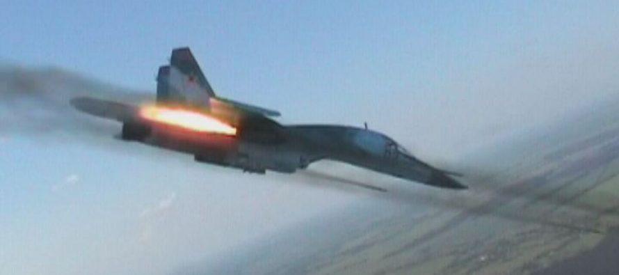 Минобороны РФ показало на видео последствия ракетного удара истребителя Су-34