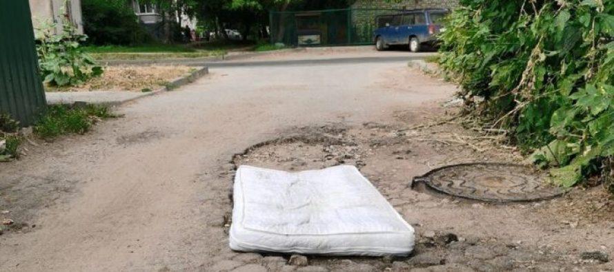 Ямочный ремонт дороги на улице Рыбацкой в Рязани будет выполнен в августе