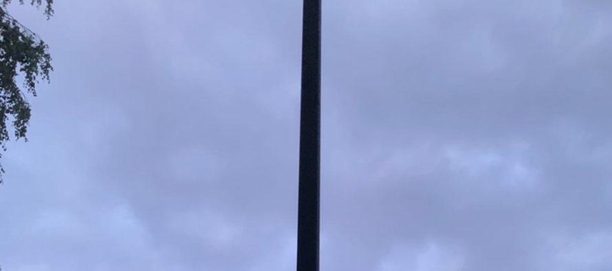 В ЦПКиО Рязани отремонтировали загоревшийся новый фонарь