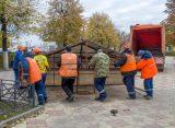 Мэр Рязани проверила качество работ по благоустройству сквера в поселке Строитель в Рязани